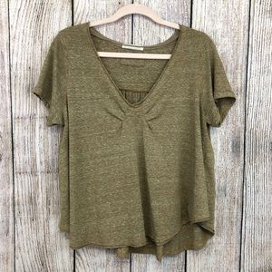 Free People We the Free Brown Top Medium